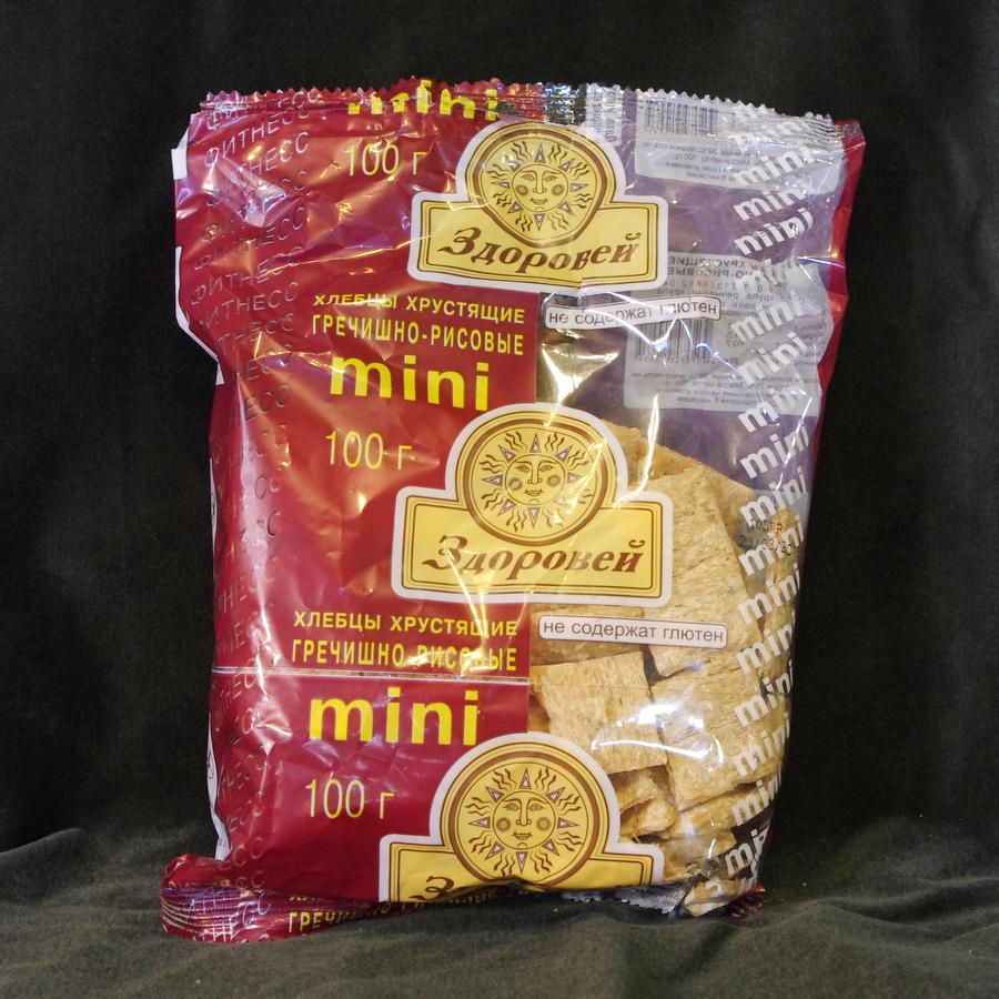 Мини хлебцы Здоровей гречишно рисовые