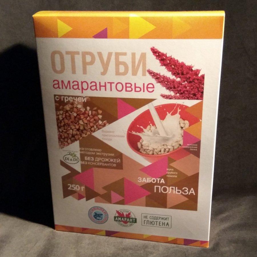 Отруби амарантовые с гречей