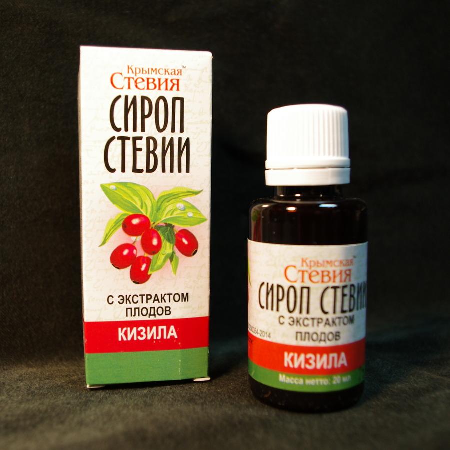 Сироп стевии с экстрактом плодов Кизила