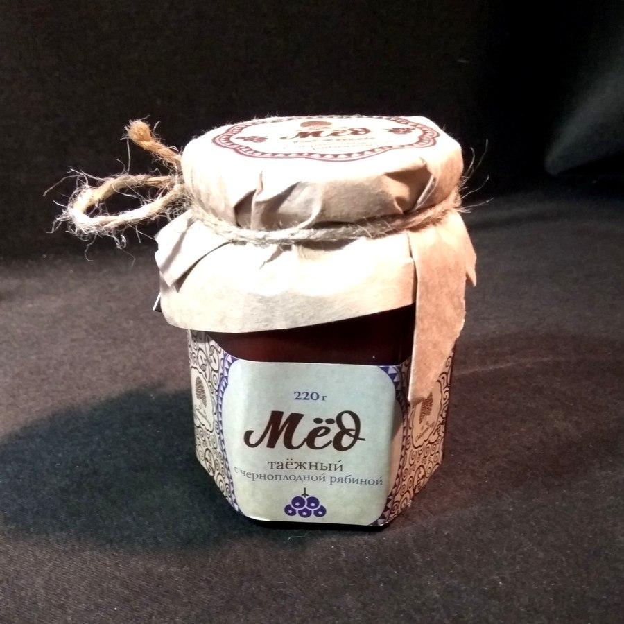 Сиб. кедр Мёд таёжный  с черноплодной рябиной 220г