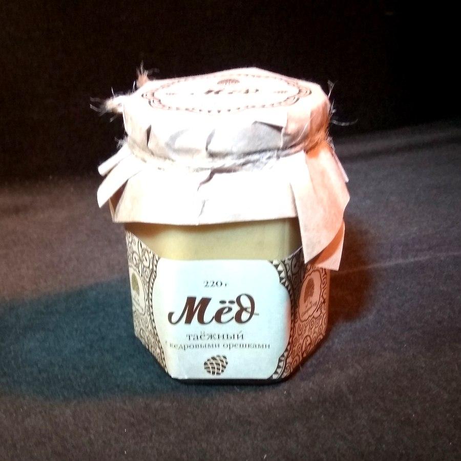 Сиб. кедр Мёд таёжный  с кедровыми орехами 220г