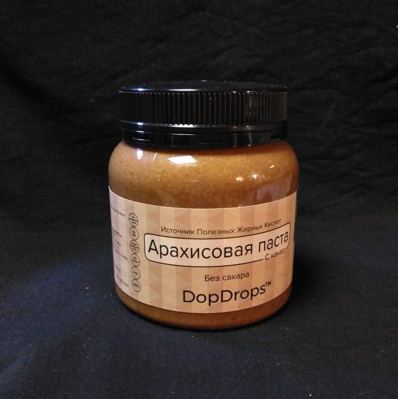 DopDrops Арахисовая паста с какао со стевией 250г.